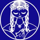 Logo na modré